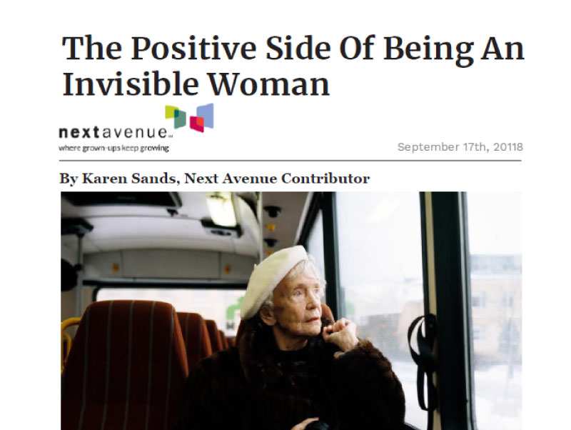 The Positive Side of Being an Invisible Woman